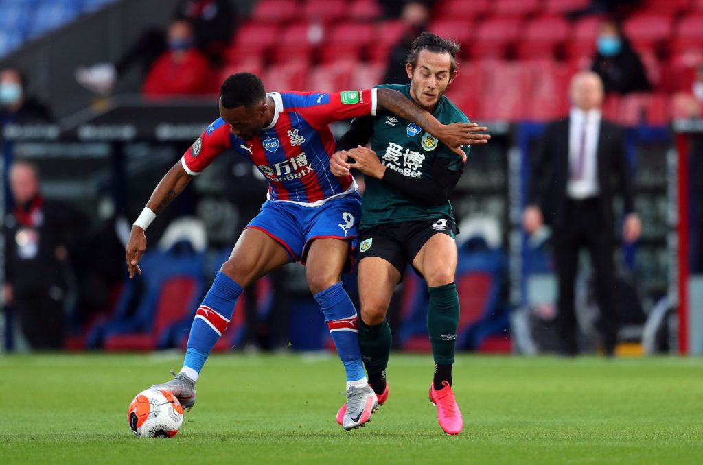 Video: Jordan Ayew escapes RED card after clash during Crystal Palace match