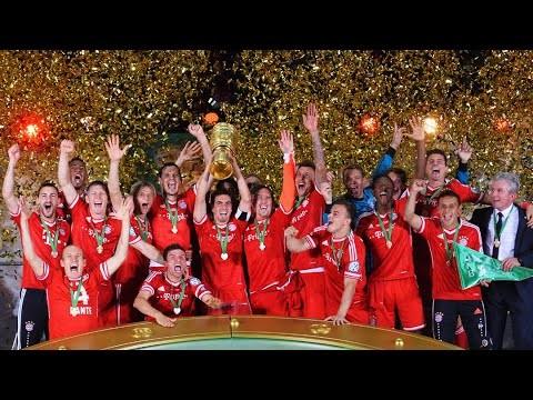 FC Bayern clinch triple   Highlights of the DFB-Pokal final 2013 vs. VfB Stuttgart