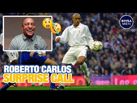 Roberto Carlos SURPRISES Real Madrid fan with video call!