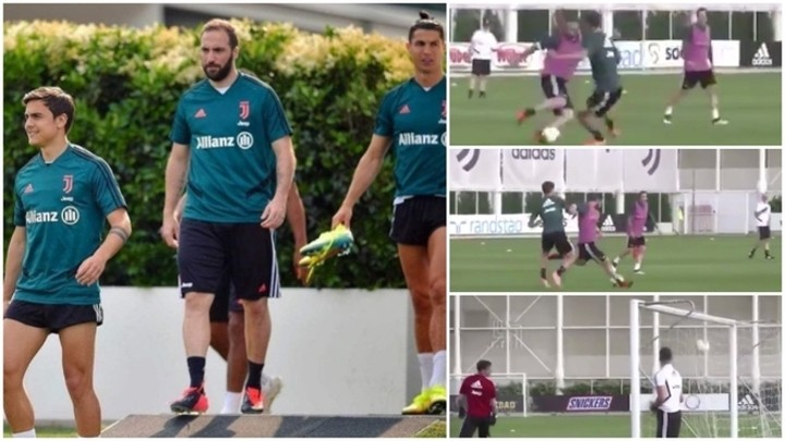 Higuain scores wonderful goal in training but he looks fat after return 🎥