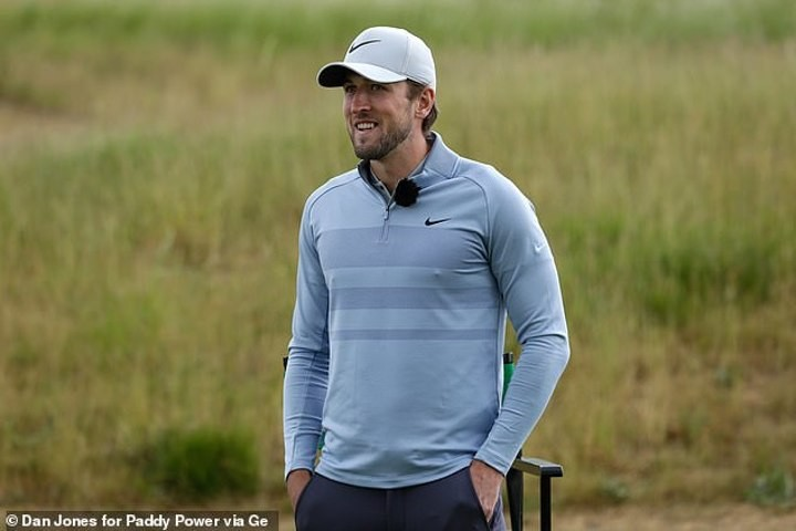 Harry Kane happy to be back on course after Tottenham striker competes in Hertfordshire golf event
