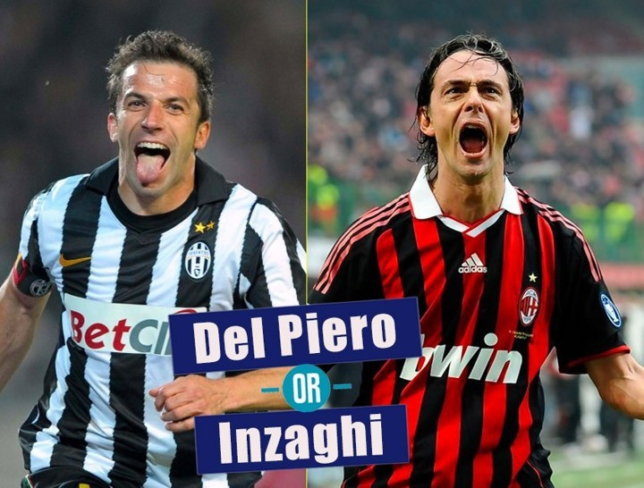 DEL PIERO or INZAGHI 🇮🇹 Who would you take in their prime?