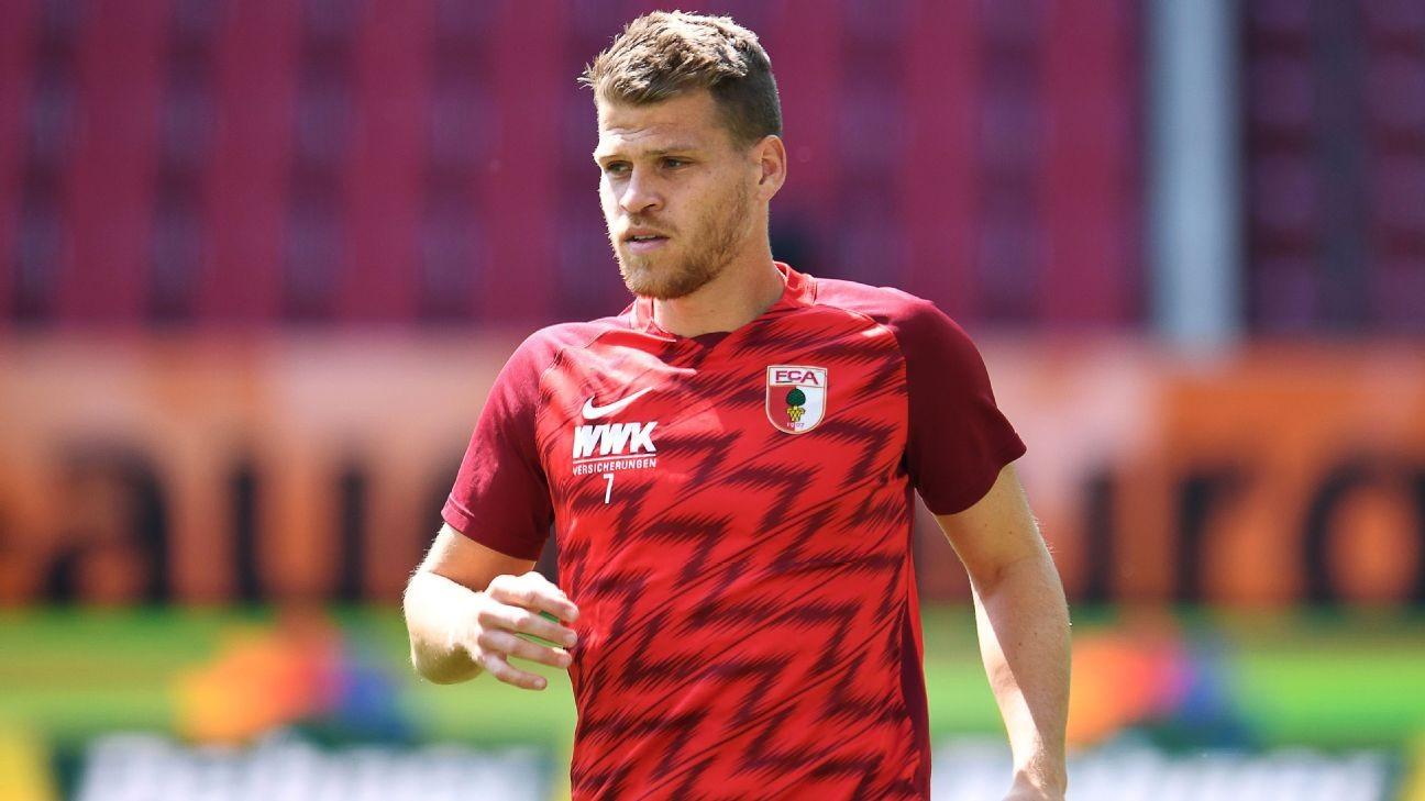 Augsburg's Niederlechner blames empty stadium for missed penalty