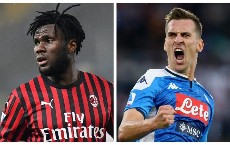 Napoli and AC Milan consider Milik-Kessie swap