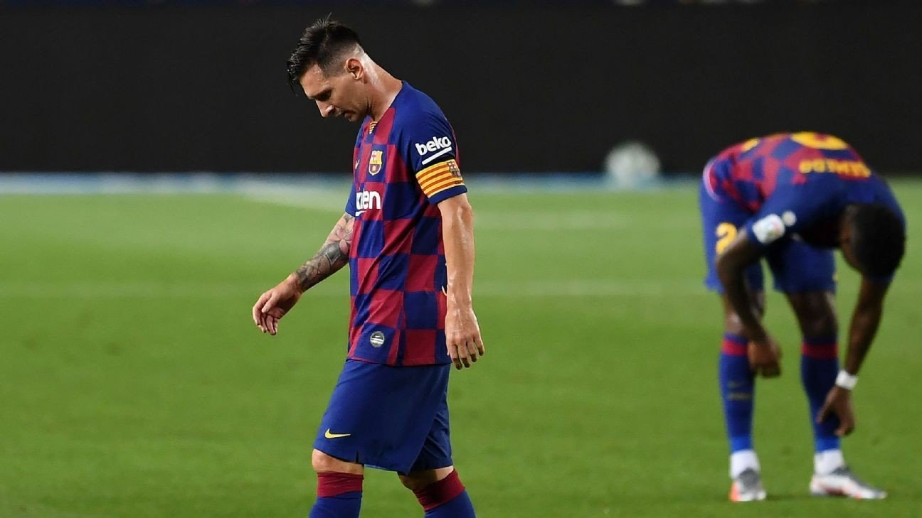 Messi scores 700th but Barca's title hopes now left hanging by a thread
