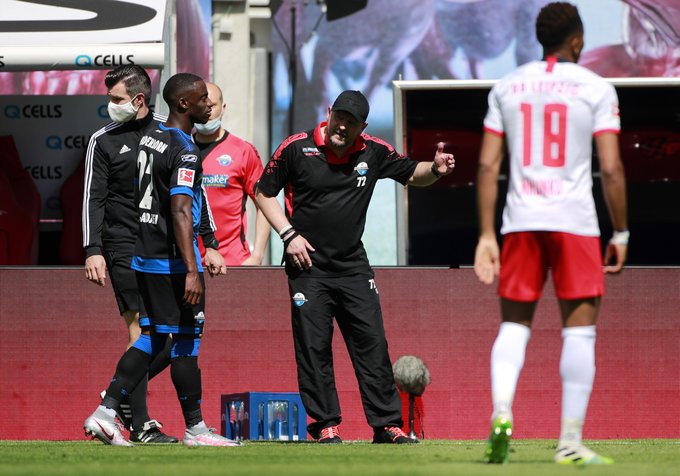 Christopher Antwi-Adjei plays full throttle as relegated Paderborn hold RB Liepzig
