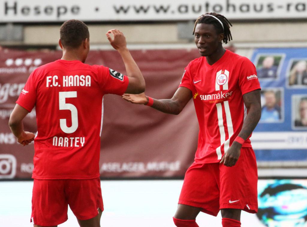 Hansa Rostock hopeful of extending loan deals for Ghanaian duo Nartey & Opoku