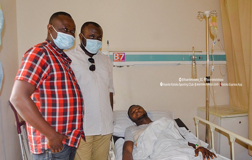 Kotoko goalkeeper Osei Kwame undergoes successful surgery