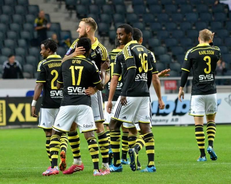 Adu Kofi, Ofori feature as AIK suffer heavy defeat to IFK Norrkoeping