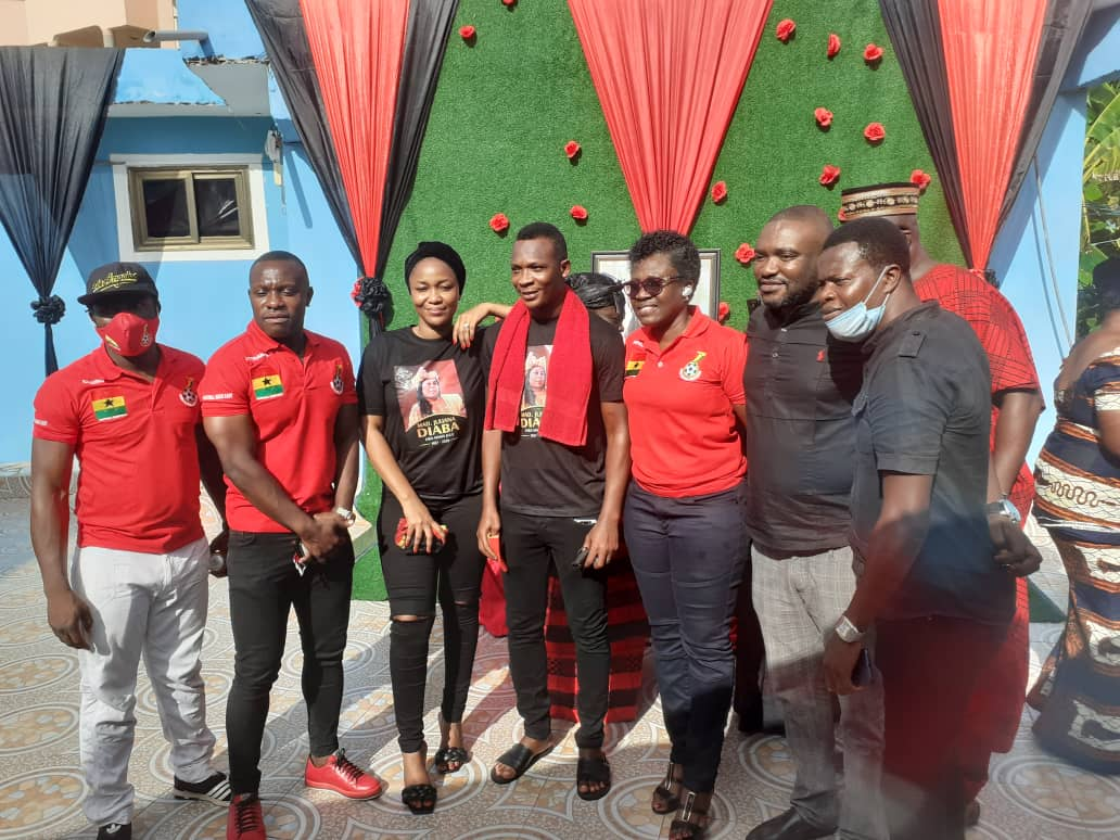 PHOTOS: Friends and sympathizers join John Paintsil to observe late mum's one-week
