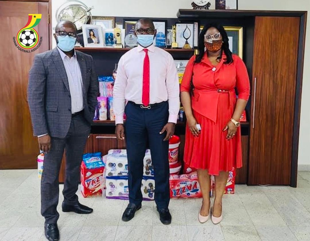 Ghana FA capo and Women's Premier League chair visit YAZZ sanitary pad producers