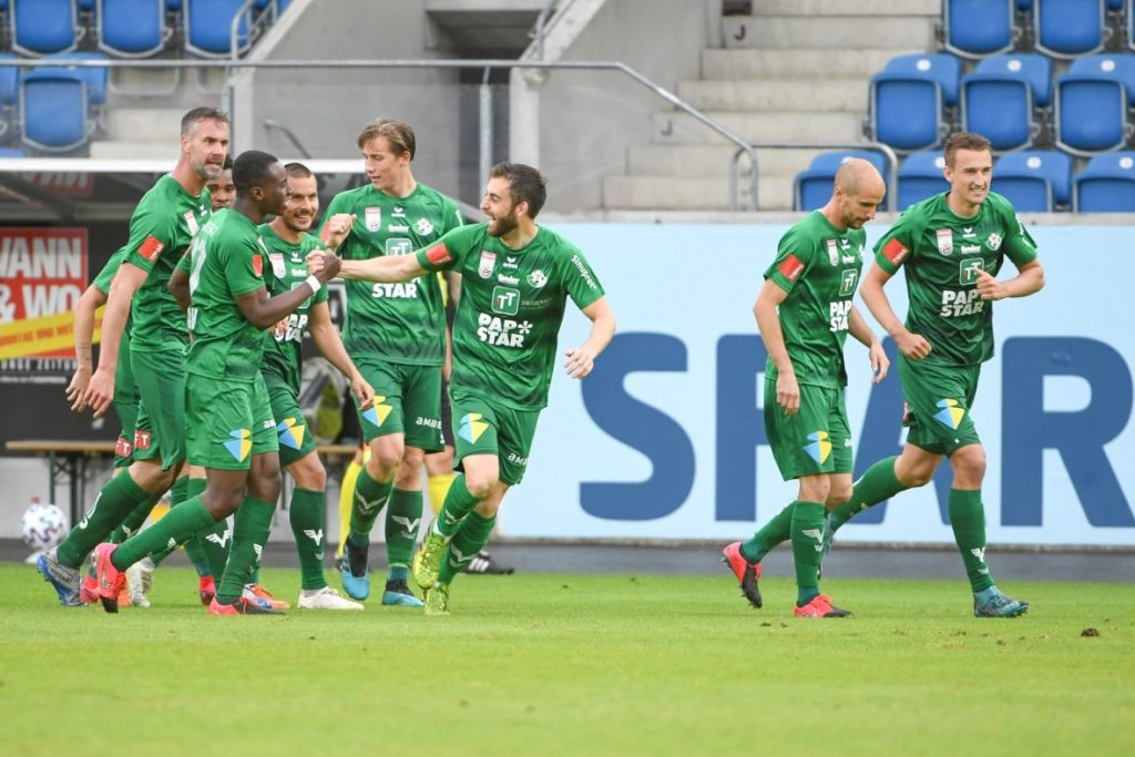 Ghanaian youngster Kelvin Yeboah scores to secure point for WSG Tirol against SV Mattersburg