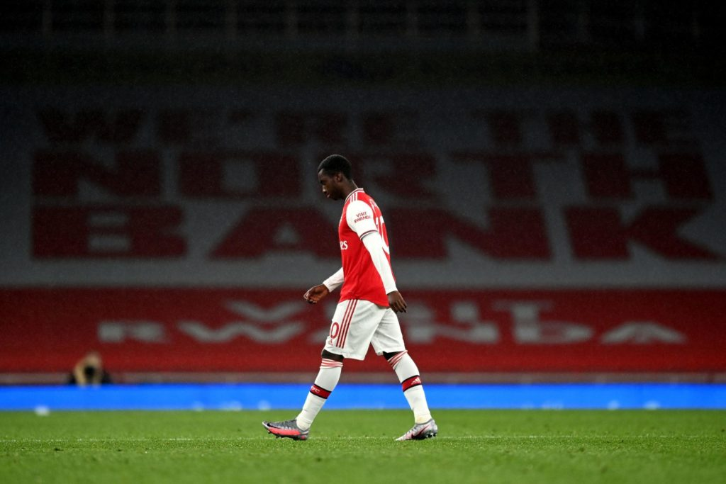 Substitute Eddie Nketiah cops red card as Leicester City hold ...