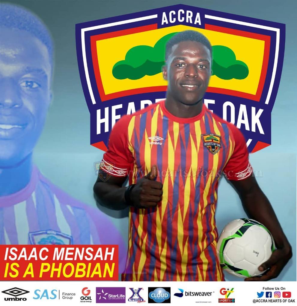 Hearts of Oak announce Isaac Mensah signing