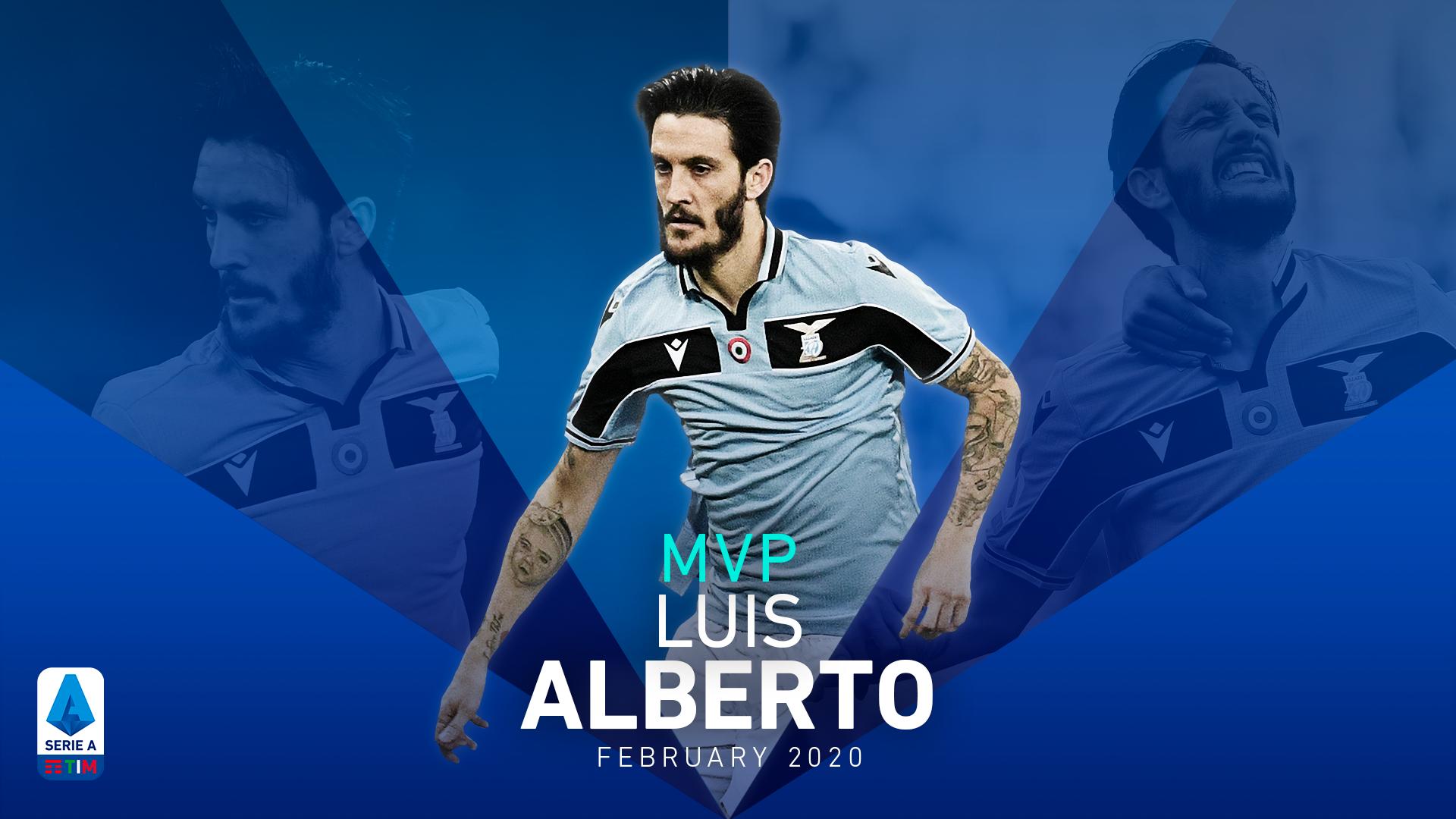 LUIS ALBERTO MVP FOR FEBRUARY