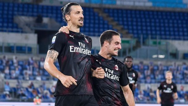 Ibra scores in return as Milan dent Lazio hopes