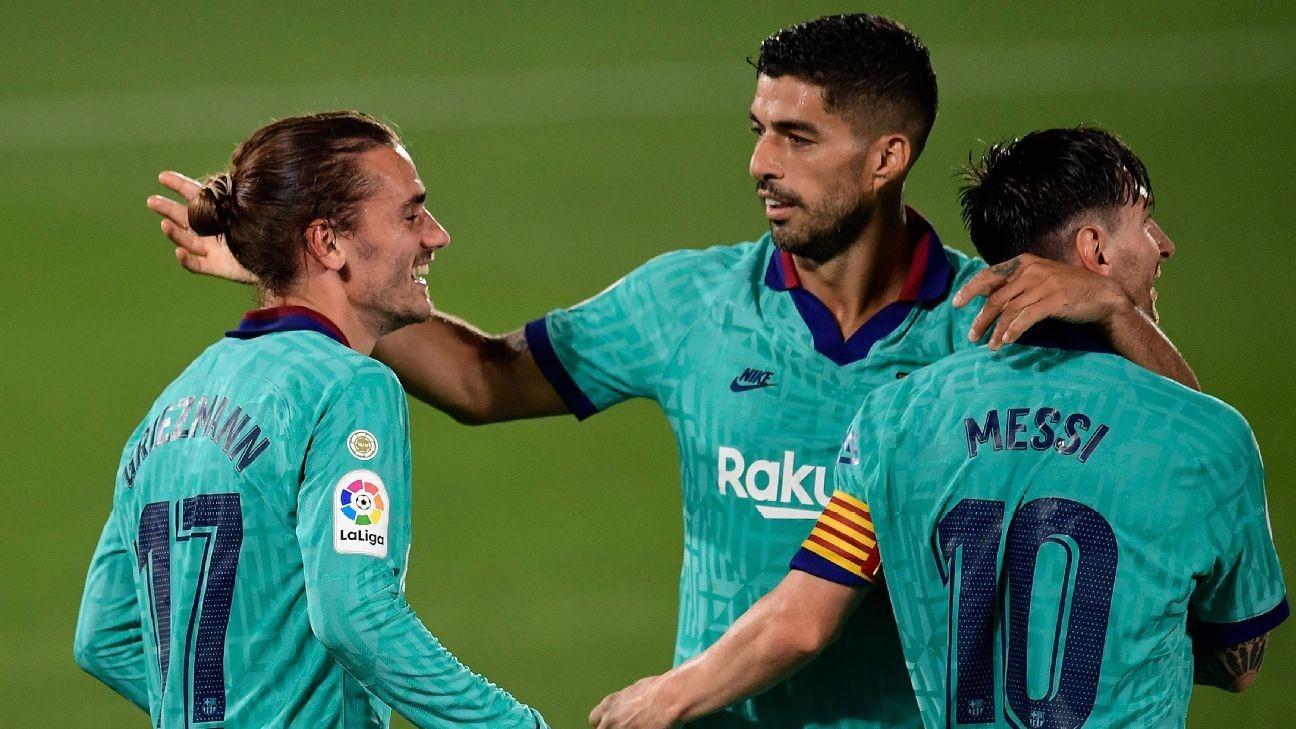 Barca's new formation sees Griezmann, Suarez, Messi combine brilliantly