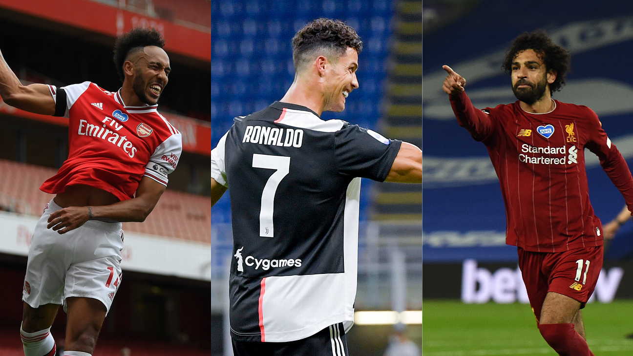 Stats: Ronaldo and Liverpool hit 30; Auba joins Henry