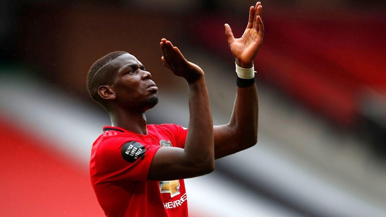 Pogba happy at Man United amid new deal talk
