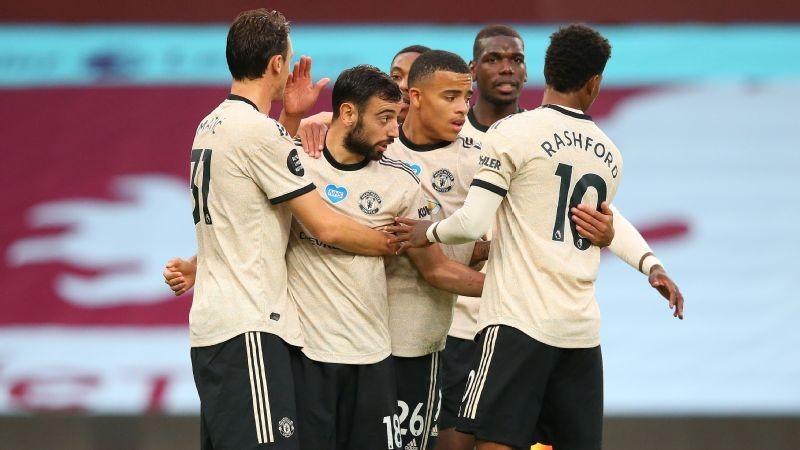 Man United ease to victory at Aston Villa