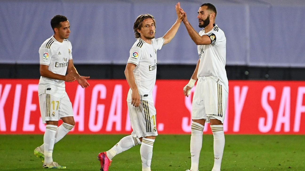 Madrid's attack revolves around Benzema in 8/10 performance
