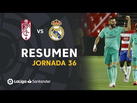 Resumen de Granada CF vs Real Madrid (1-2)