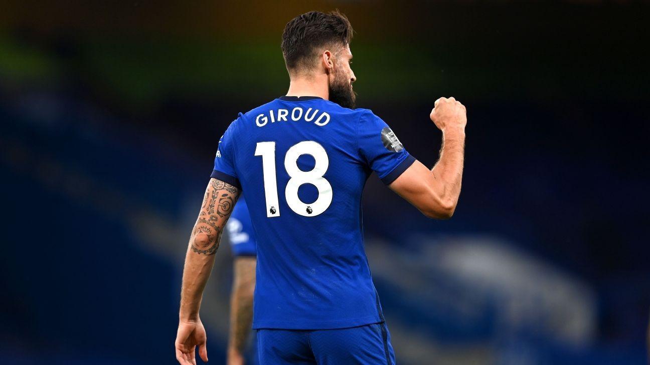 8/10 Giroud returns Chelsea to winning ways