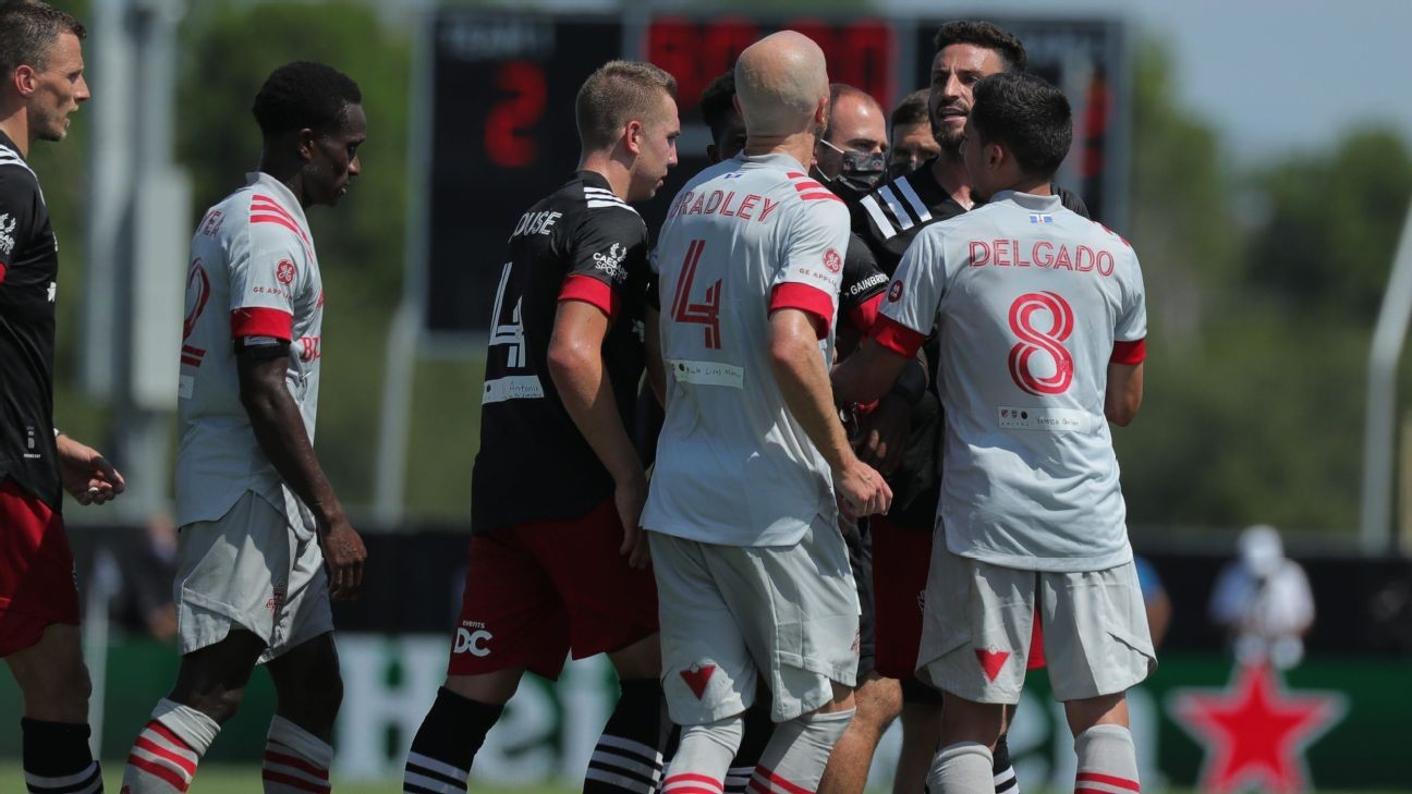 In the MLS bubble, positive tests bring tensions to the fore