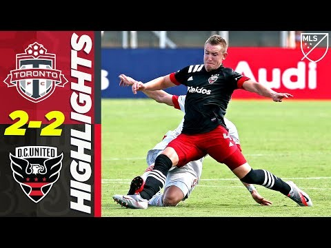 Toronto FC 2-2 D.C. United | Red Card & a Comeback | MLS Highlights
