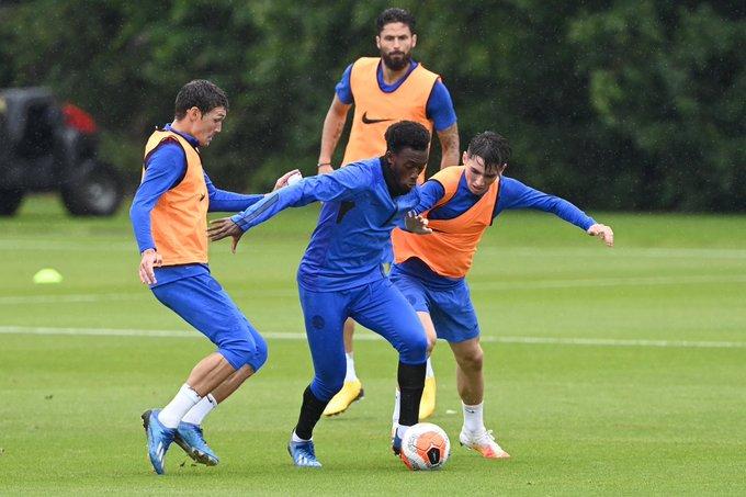 Chelsea winger Callum Hudson-Odoi returns to training ahead of West Ham clash