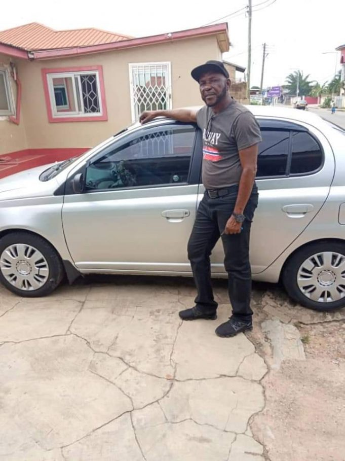 J.E Sarpong receives car gift from former Accra Academy student-athletes