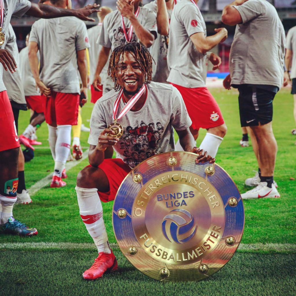 Majeed Ashimeru praises Red Bull Salzburg fans for first league title