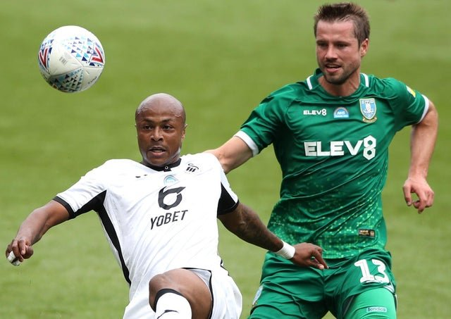 Video: Watch Andre Ayew's 16th goal of the season for Swansea against Sheffield Wednesday