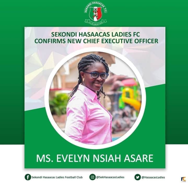 Hasaacas Ladies appoint Evelyn Nsiah as new C.E.O