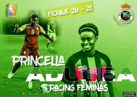 CDE Racing Femenino sign Ghana striker Princella Adubea