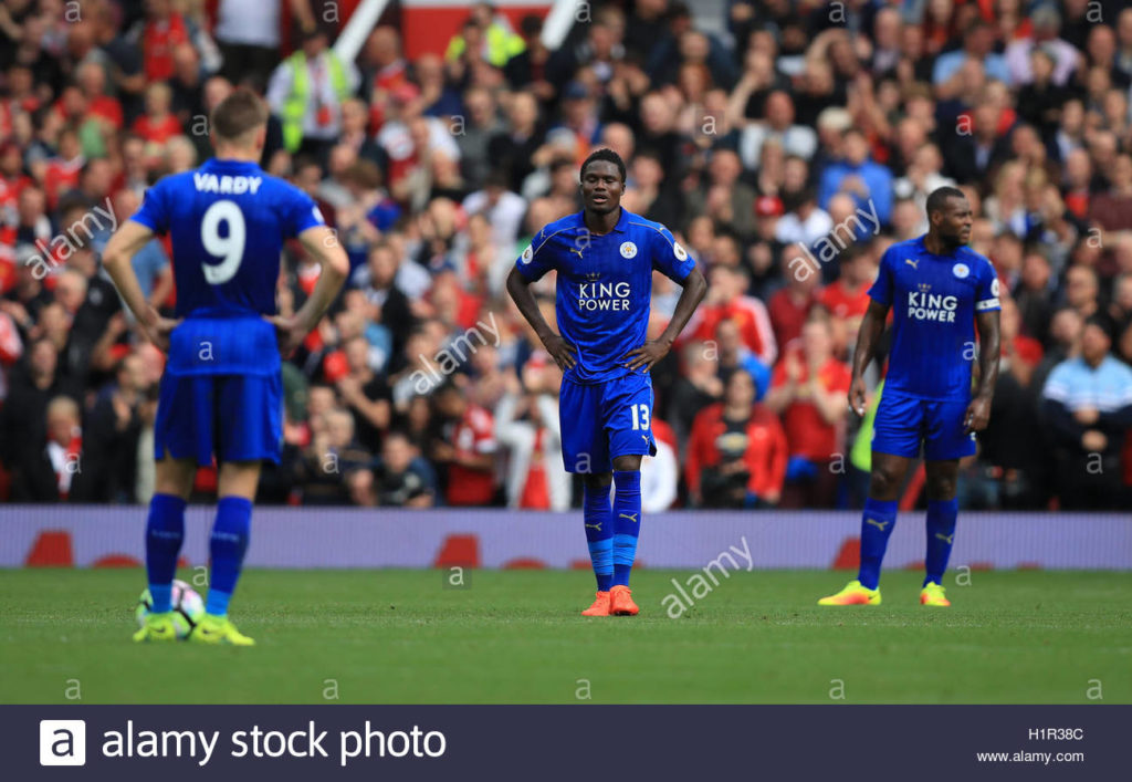 Amartey congratulates Vardy for becoming first Leicester player to score 100 Premier League goals