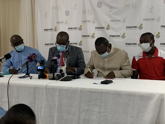 GFA announce GHC 1.6 million sponsorship deal with Macron as official ball sponsors
