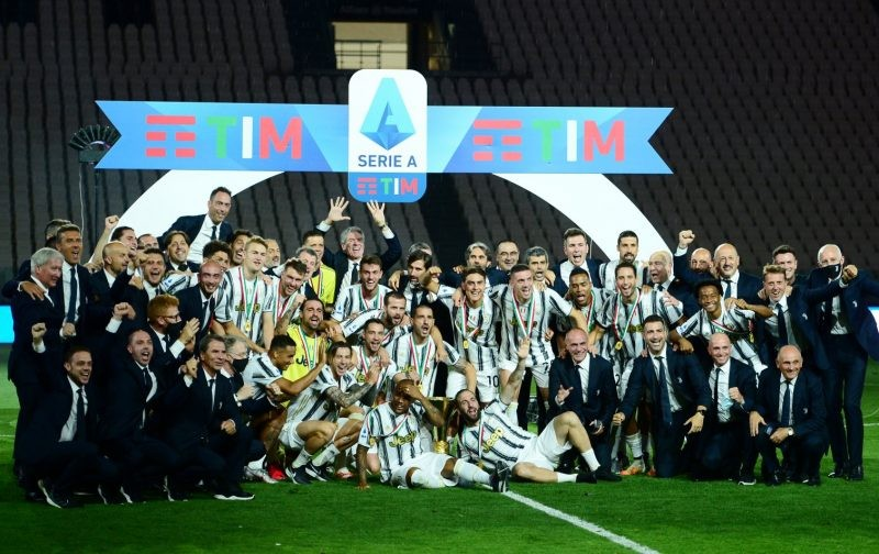 Juventus lift the 2019/20 Serie A trophy