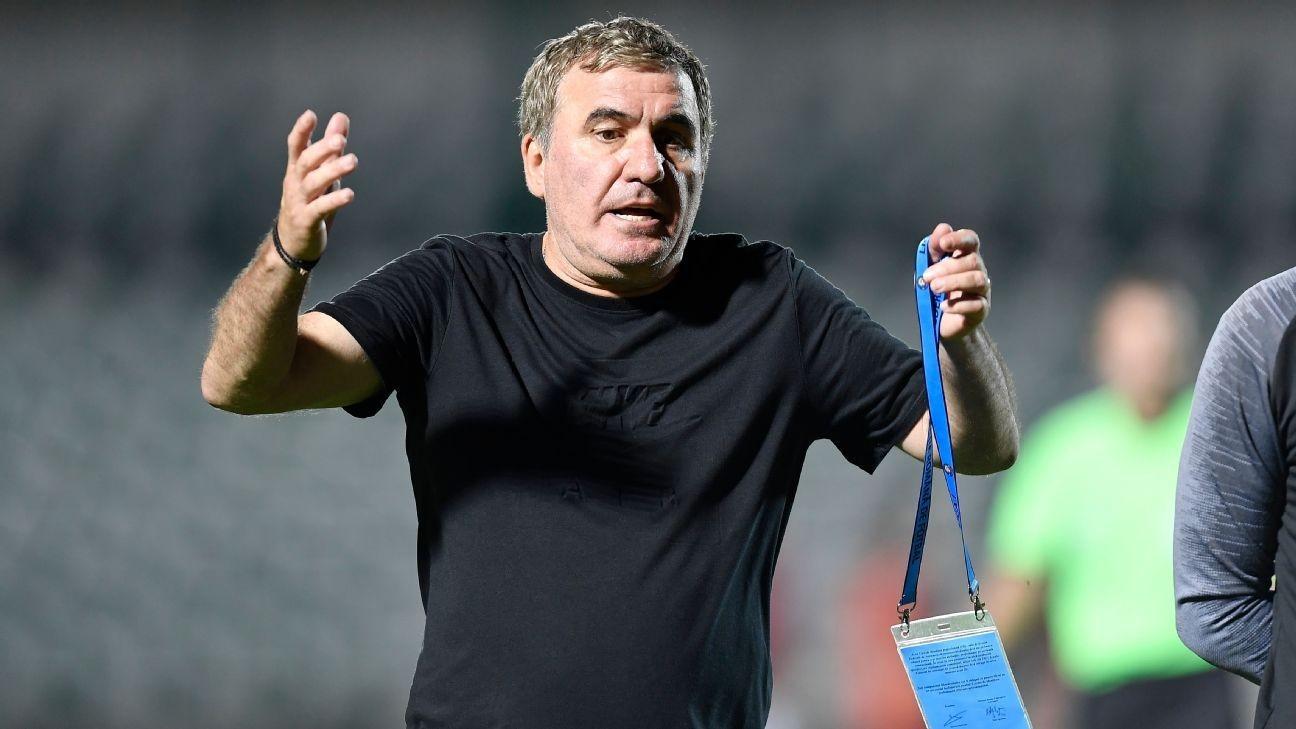 Romania legend Hagi sacks himself at own club