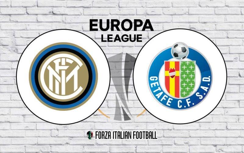 Inter v Getafe: Official Line-Ups