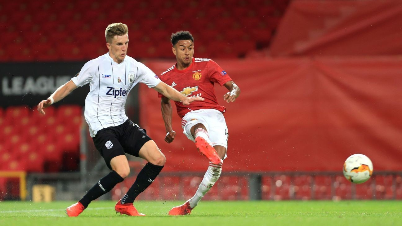 Lingard 7/10 as Man United cruise past LASK Linz