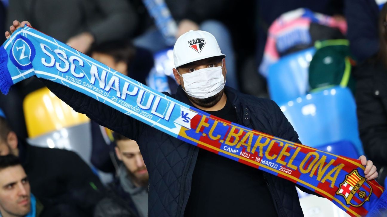 Napoli chief wants UCL match out of Barcelona