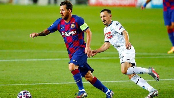 Barcelona beat Napoli to set up Bayern showdown
