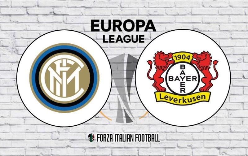 Inter v Bayer Leverkusen: Official Line-Ups