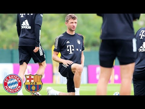 LIVE 🔴 Press Conference with Thomas Müller & Hansi Flick | FC Bayern vs. FC Barcelona