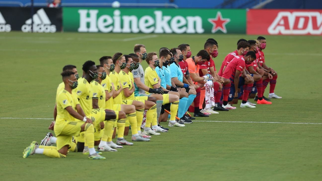 Fans boo players kneeling before MLS game