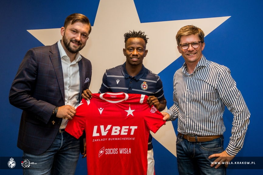 Ghana U23 captain Yaw Yeboah handed No.40 jersey at Polish side Wisla Kraków