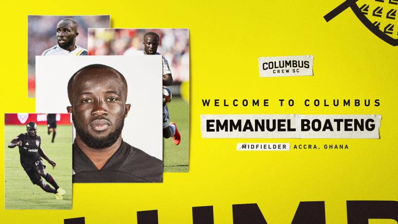 Columbus Crew snap up Ghanaian midfielder Emmanuel Boateng