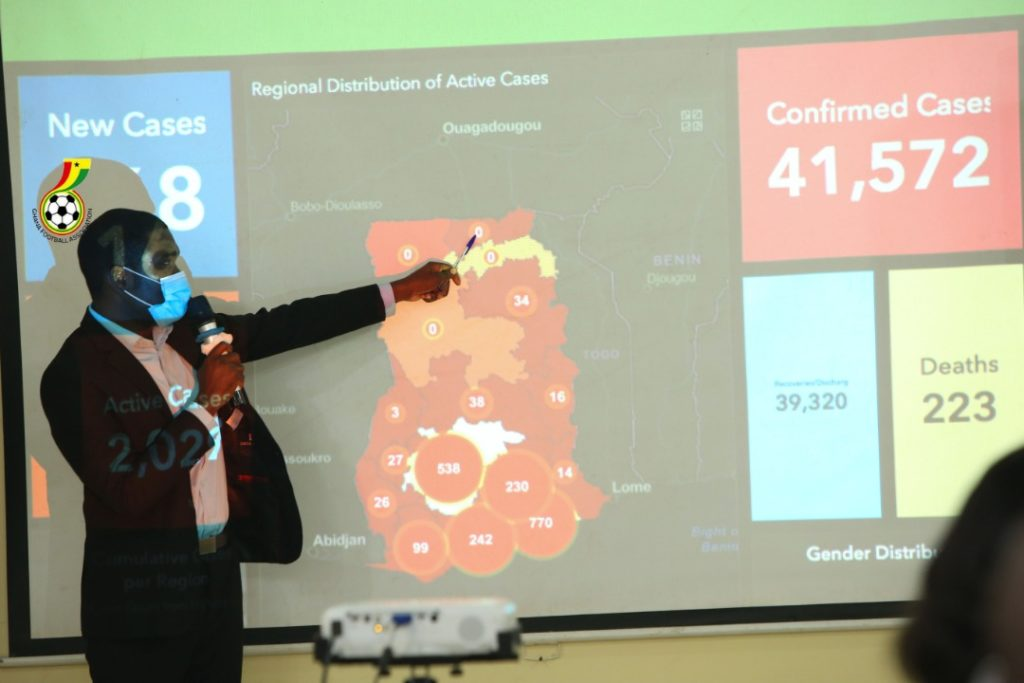National team handlers receive coronavirus training ahead of camping