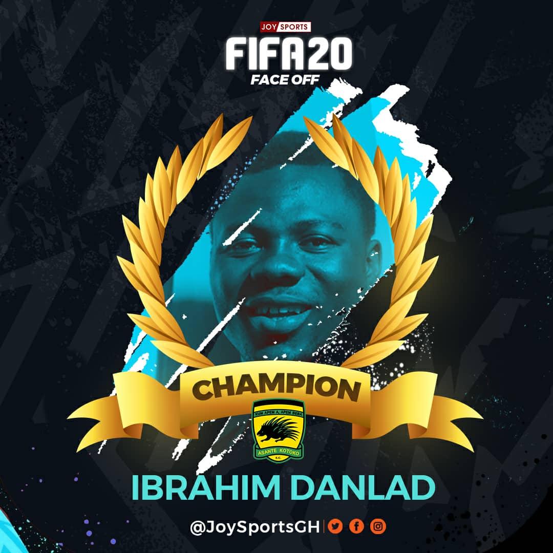Kotoko's Ibrahim Danland beats Hearts of Oak's Ricard Attah to win inaugural Joy Sports FIFA FaceOff